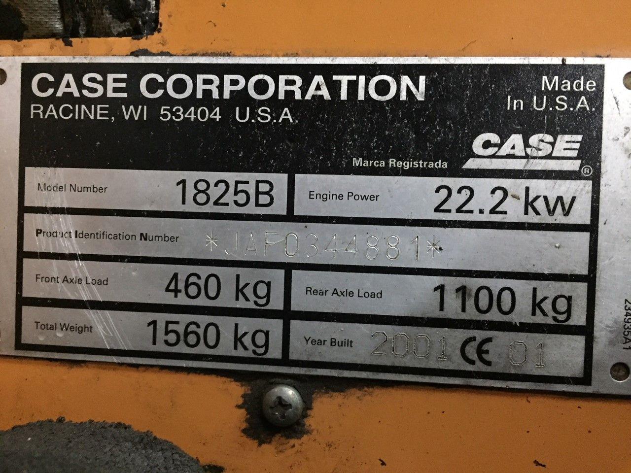 Case 1825B schranklader