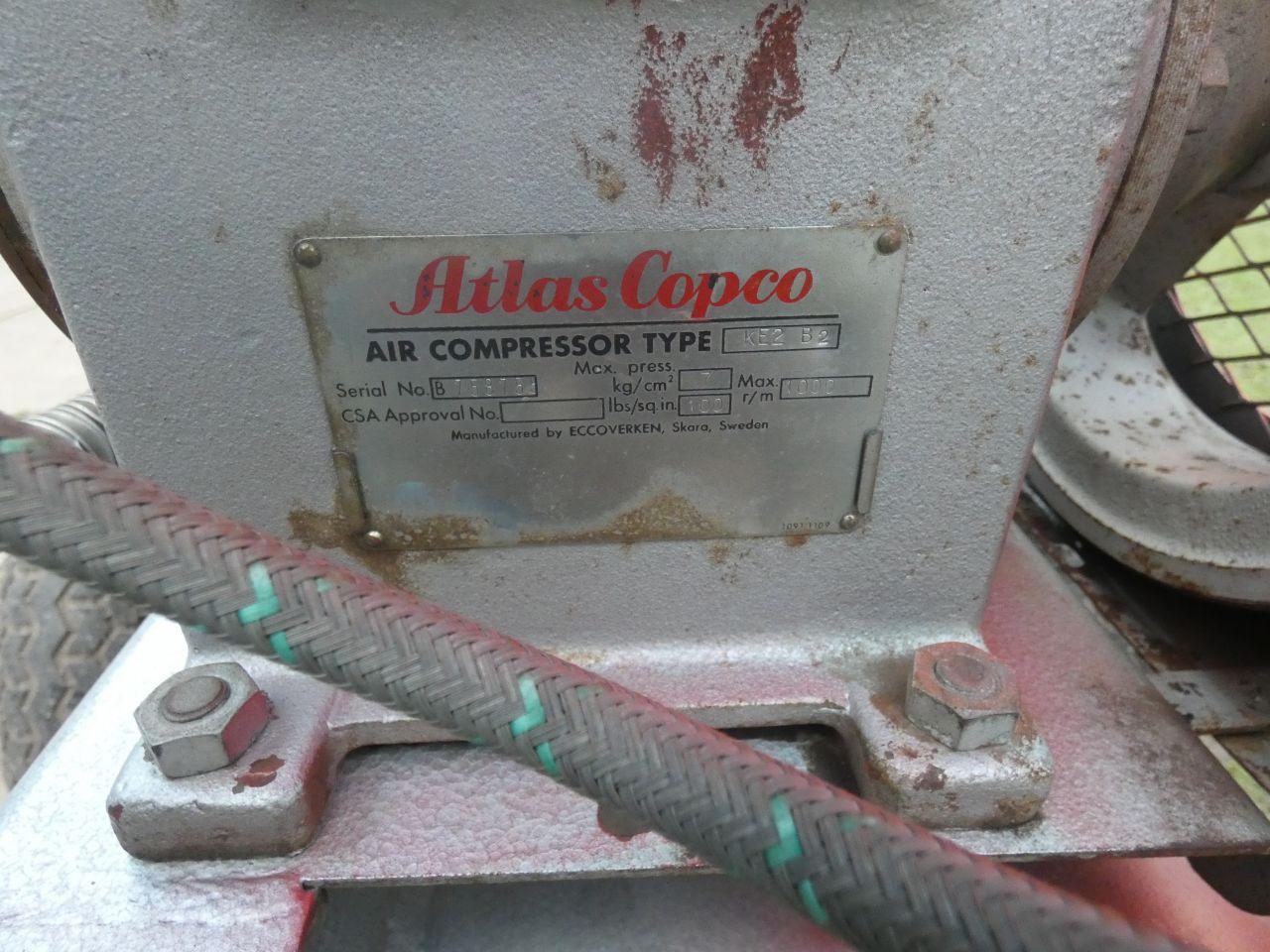 ATLAS COPCO compressor (type KE2 B2, 220V, 7 bar, i.g.s.)