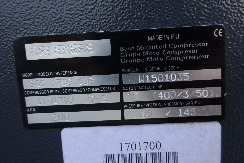Creemers Compressor ( Komt slecht op druk )