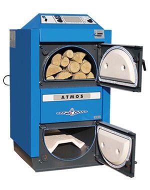 Nieuwe ATMOS biomassa HOUT CV ketel Goedkoopstoken op brandhout