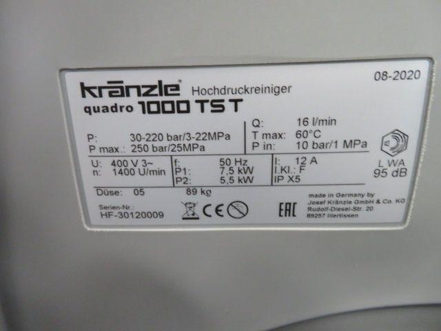 Kranzle Quadro 1000tst hogedrukreiniger, bj2020, 380V