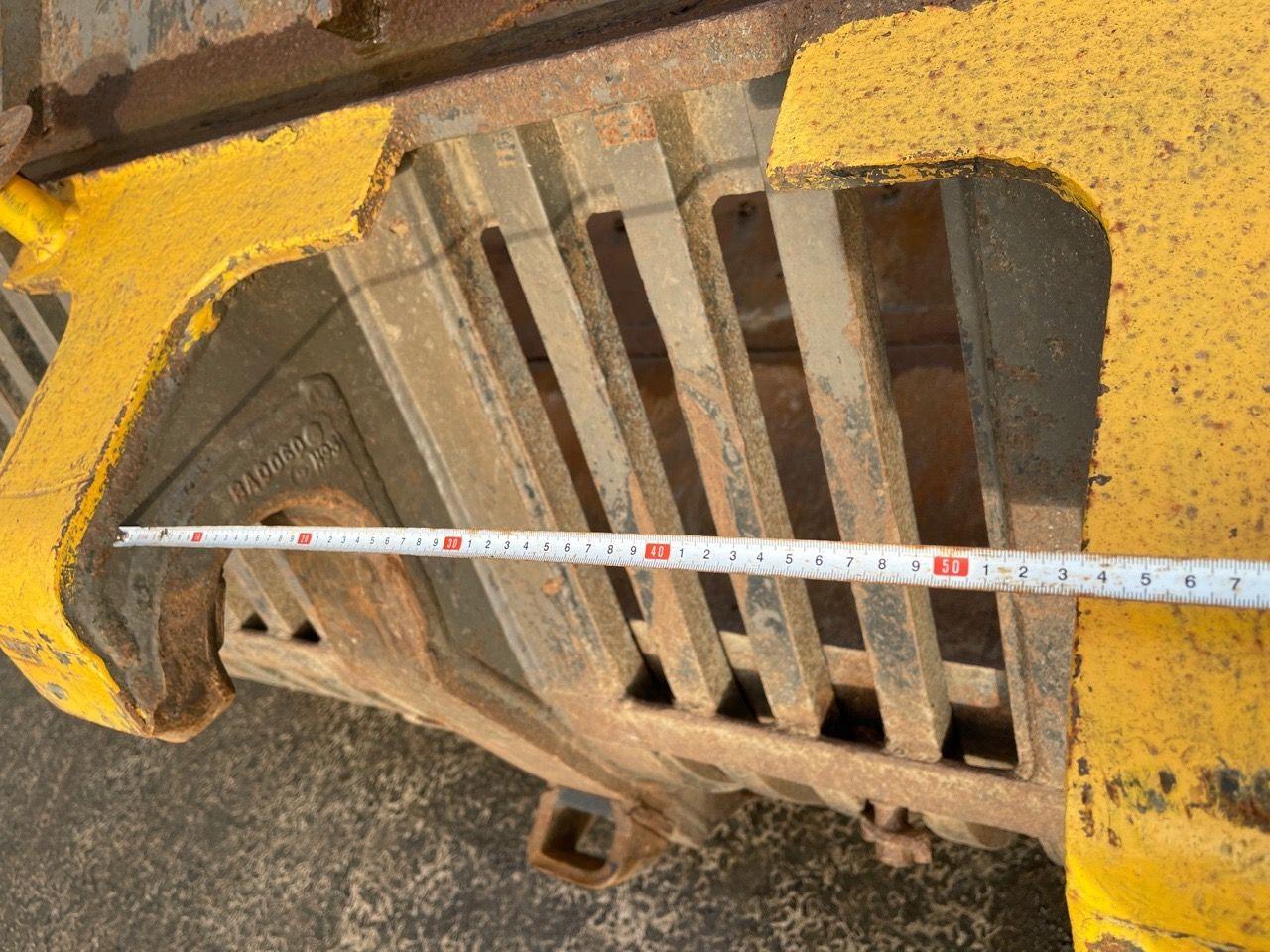 Puinbak met half inlegvel en zijschotten 297cm