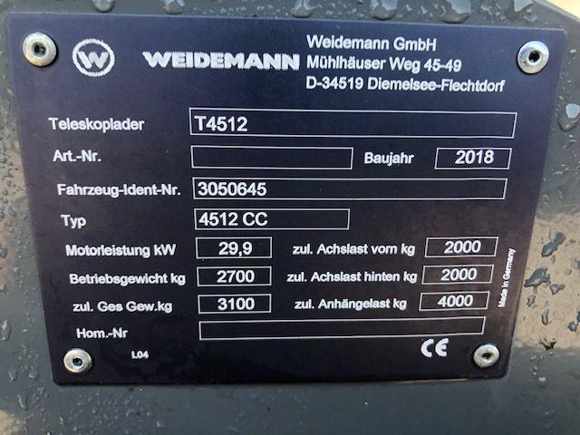 WEIDEMANN T4512 verreiker met hefhoogte tot 4,5 m