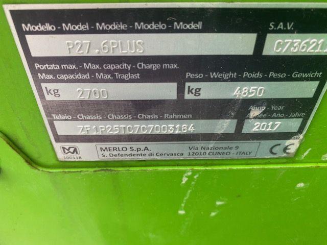 MERLO P27.6 plus verreiker met hefhoogte tot 6 m