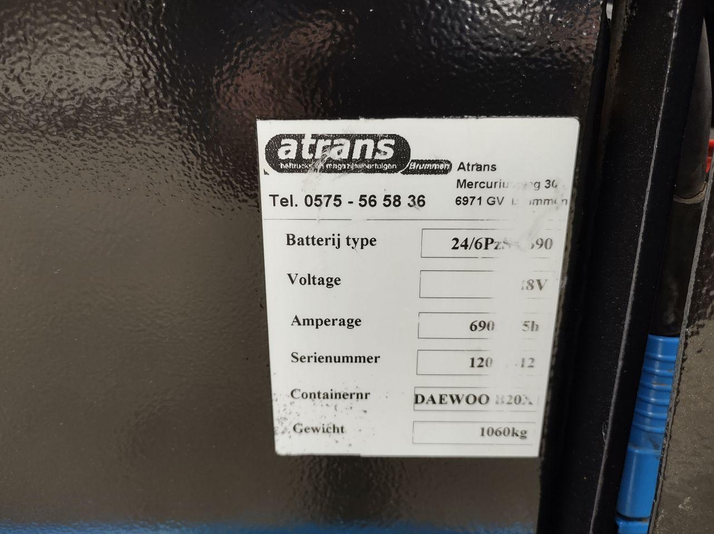 Elec. Heftruck 2 tons triplo freeliftmast 475 cm dichte cabine