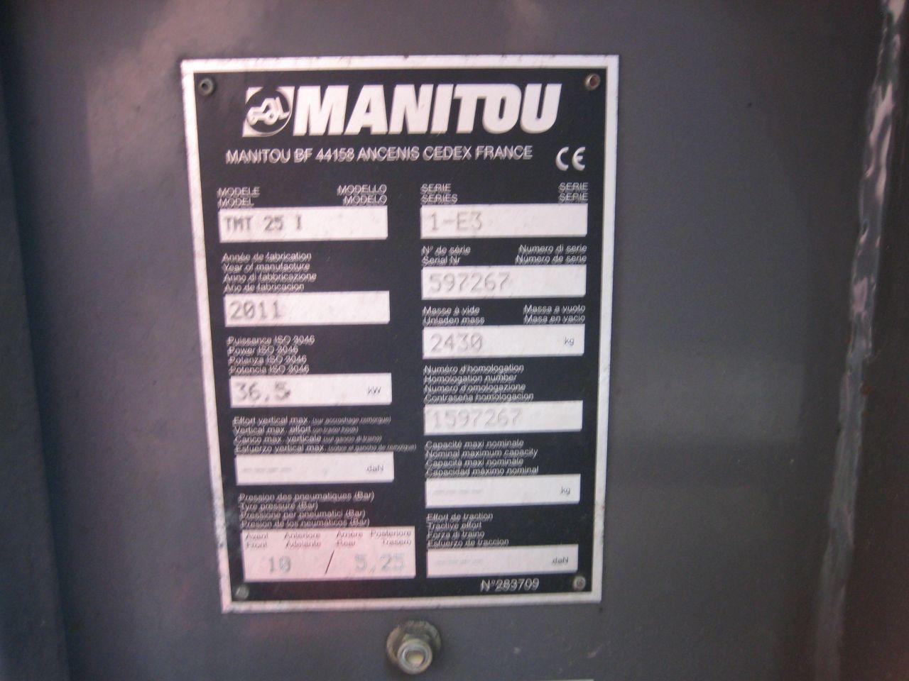 Manitou TMT25I meeneemheftruck