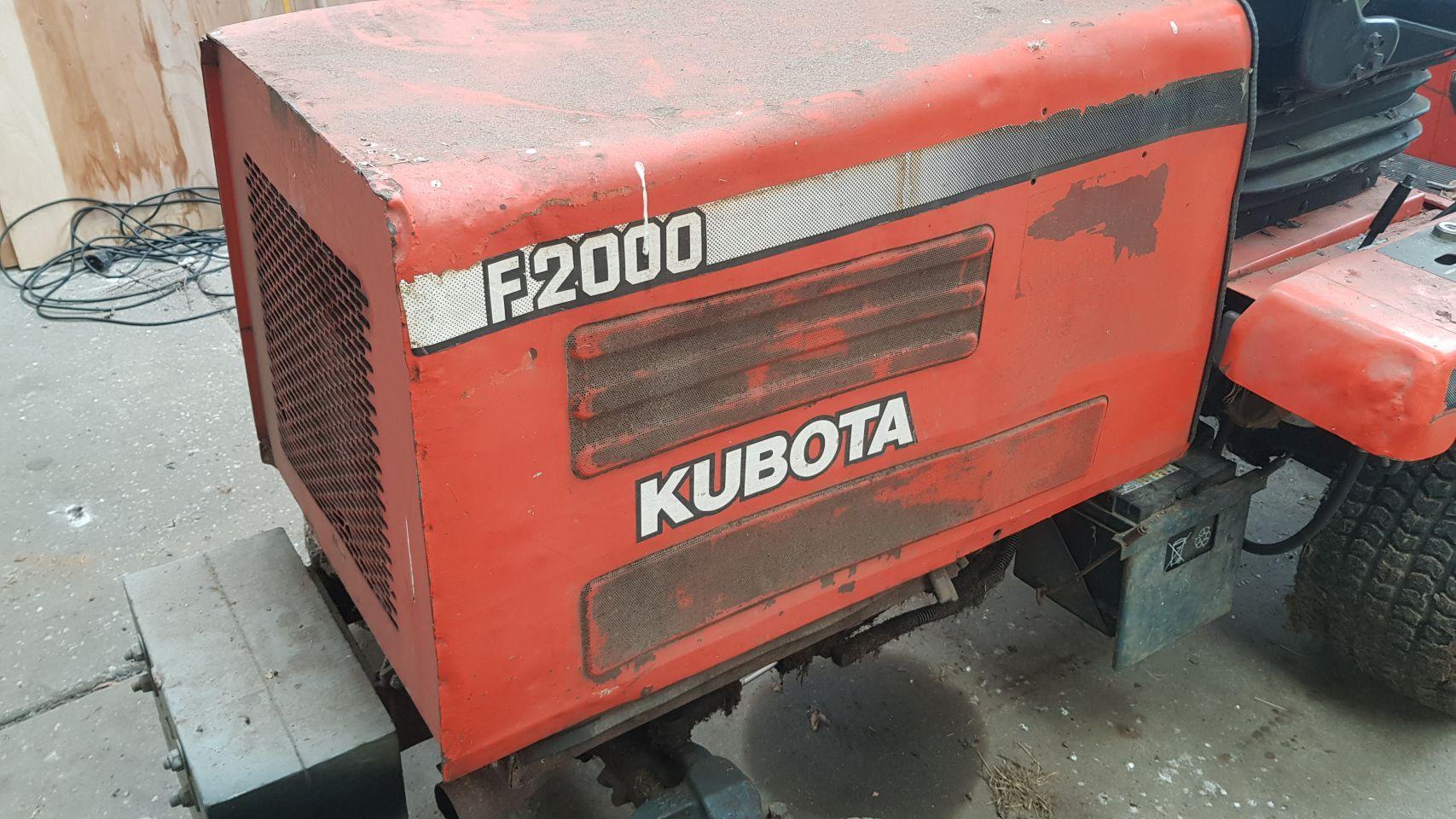 Kubota zitmaaier 3cil diesel