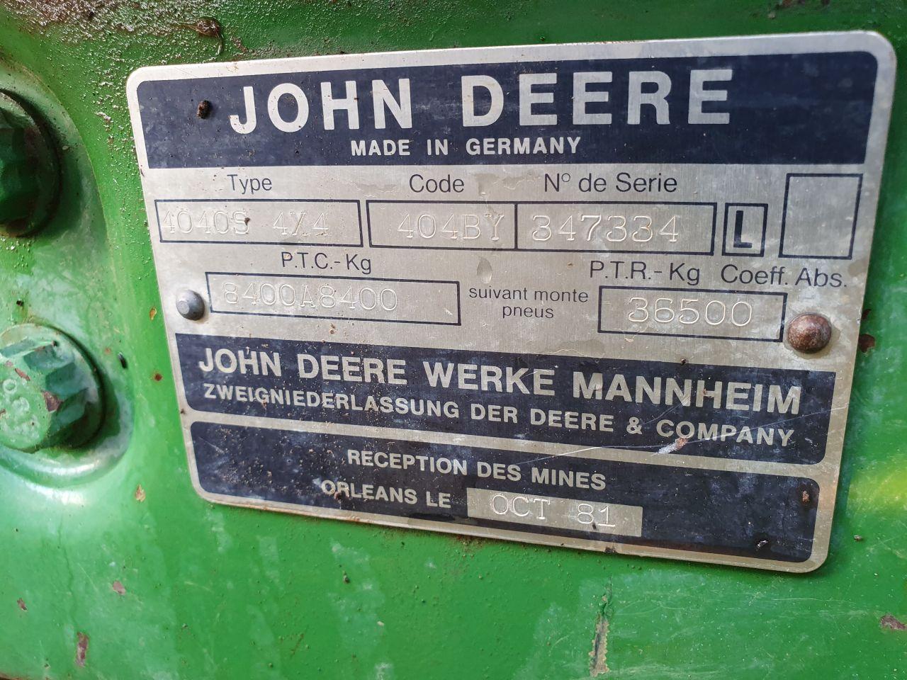John deere 4040s