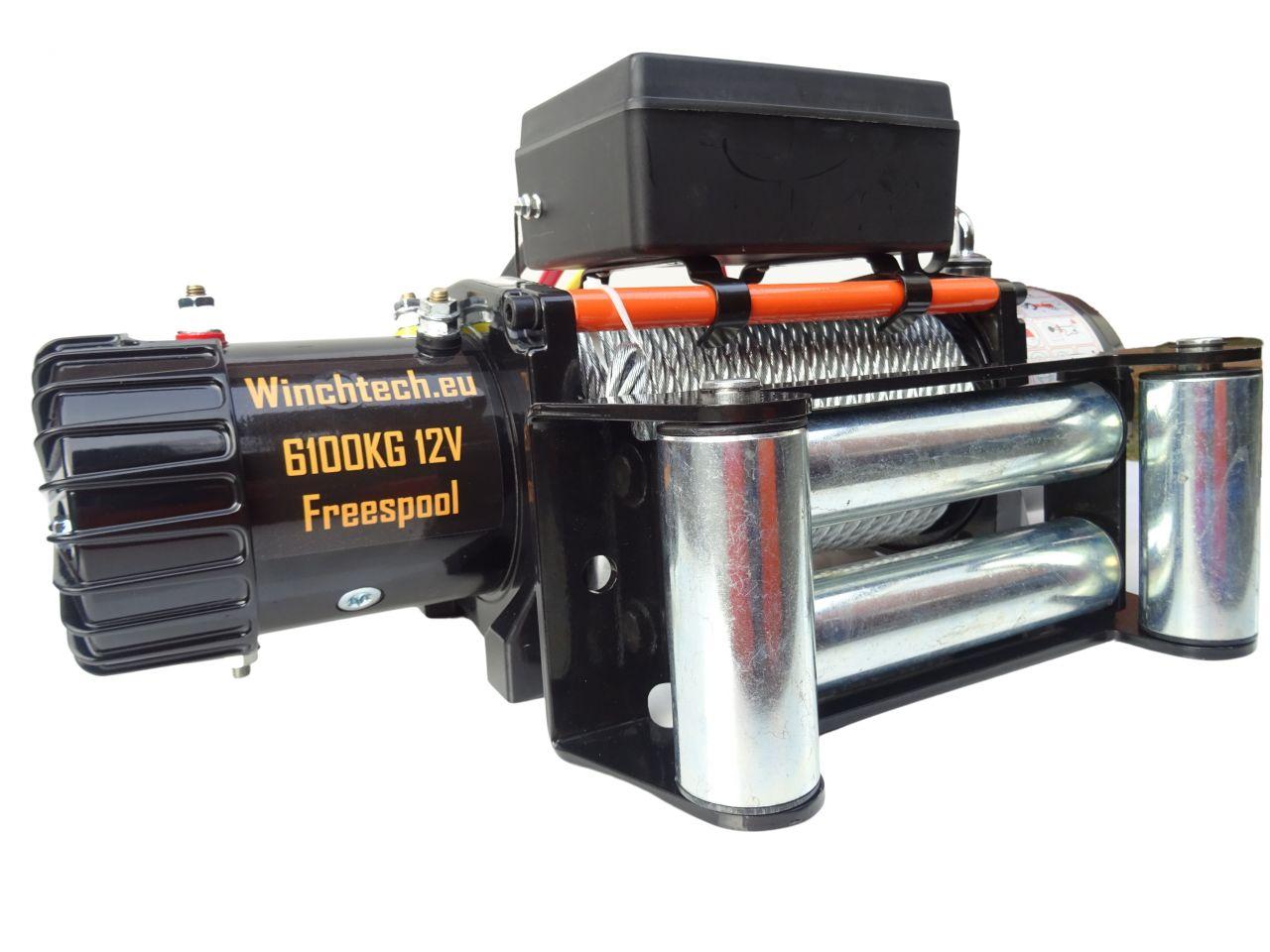 Winchtech 12v of 24v elektrische lier met staalkabel 6100 KG