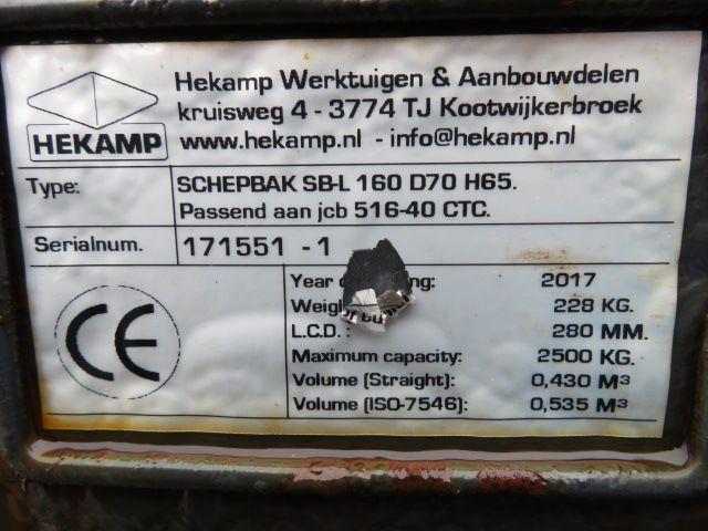 Hekamp JCB 516 schepbak 160 cm schepbak