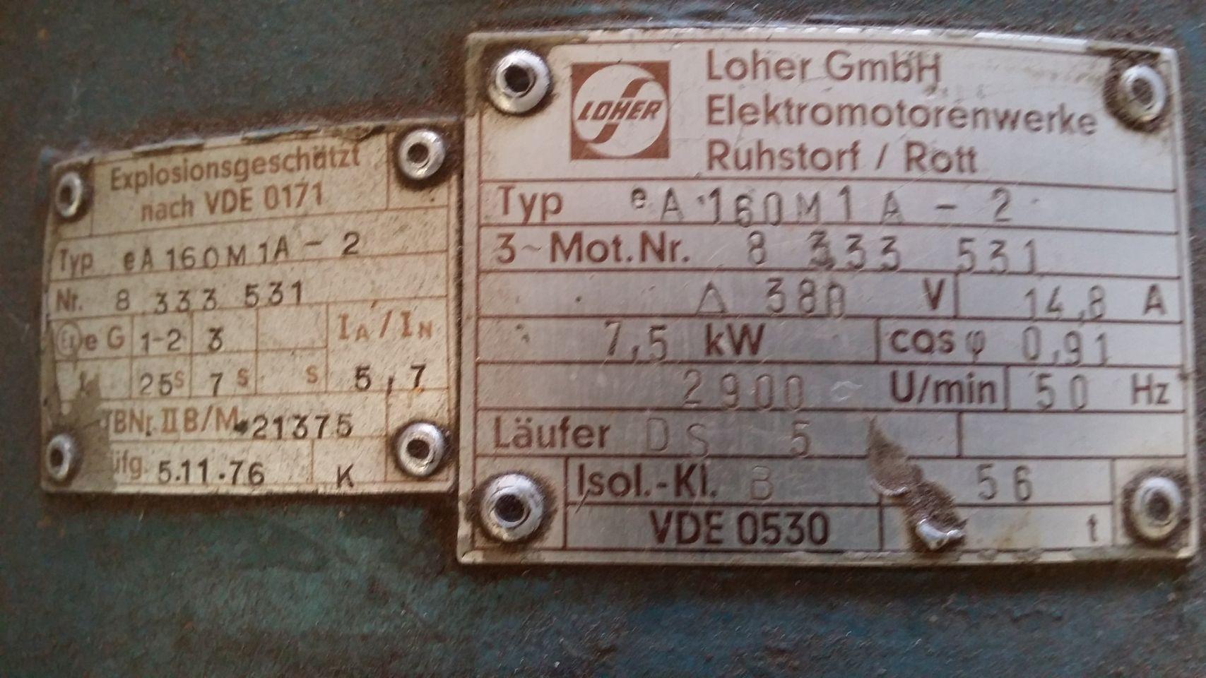 Loher 7.5 kW airpress