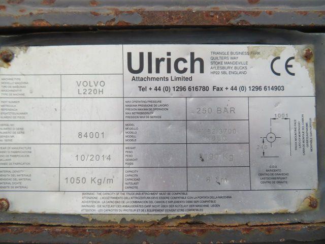 Hoogkiepbak Ulrich/Verachtert 3670mm Volvo snelw aansl L220H