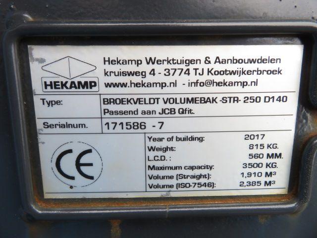 Hekamp JCB Volumebak 250 cm